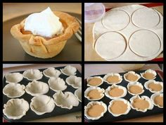 Mini Pumkin Pies: * 2 Refrigerated ready-to-roll pie crust * Cup of Sugar * 8 oz. Cream Cheese (room temperature) * 1 Cup of Canned Pumpkin * 1 teaspoon of Vanilla * 3 eggs * 1 teaspoon pumpkin pie spice * Whipped Cream Mini Pumpkin Pies, Cheese Pumpkin, Mini Pies, Mini Pumpkins, Canned Pumpkin, Pumpkin Pie Spice, Sugar Pumpkin, Holiday Desserts, Just Desserts