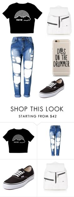 """Untitled #221"" by karenrodriguez-iv on Polyvore featuring Vans and Topshop"