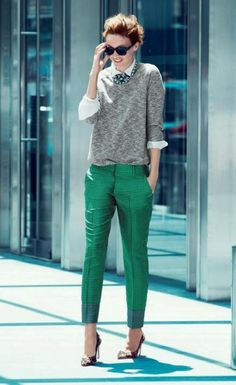 Street Style | love the pop of color!