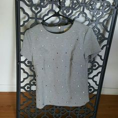 Michael kors studded top Little strechy studded silver and grey top. Michael Kors Tops Blouses