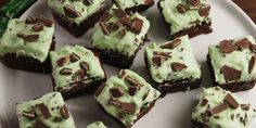 The ultimate brownie for mint and chocolate lovers.