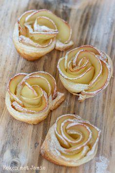 Appelroosjes van bladerdeeg - Koken met Jamie