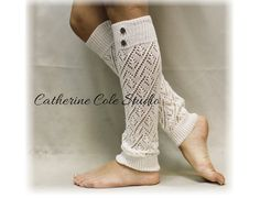 SIMPLY DIVINE in Dreamy Cream, A comfy and delicate pointelle knit legwarmer, Lavish your legs in comfort by Catherine Cole Studio LW28