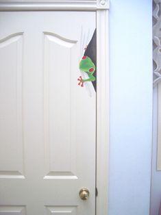 door art - frogs on doors in home