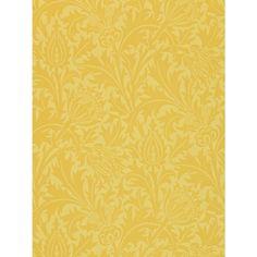 Buy Morris & Co Thistle Wallpaper, Gold, DMCW210484 Online at johnlewis.com