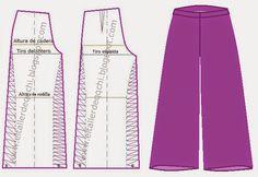 Pantalones dama corte Palazzo | Modistería Básica