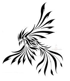 Phoenix Tribal Tattoo Design Más Más