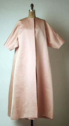 Ensemble, Evening  House of Givenchy (French, founded 1952)  Designer: Hubert de Givenchy (French, born Beauvais, 1927) Date: early 1960s Culture: French Medium: silk Dimensions: Length at CB (a): 56 in. (142.2 cm) Length at CB (b): 58 in. (147.3 cm) Credit Line: Gift of Joanne T. Cummings, 1976 Accession Number: 1976.360.12a, b