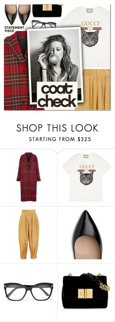 """Go Bold: Statement Coats IV"" by vampirella24 ❤ liked on Polyvore featuring Burberry, Gucci, Tom Ford and Garcia"