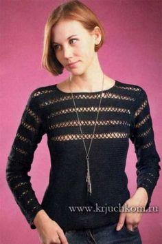 Вязаные пуловеры - схемы и описания