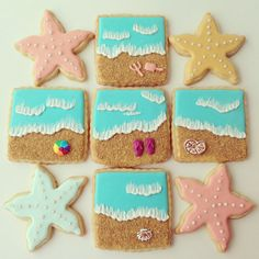 """Items similar to Summer """"At the beach"""" sugar cookies on Etsy"""