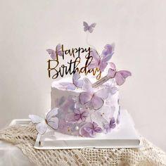Elegant Birthday Cakes, 18th Birthday Cake, Baby Birthday Cakes, Beautiful Birthday Cakes, Happy Birthday Cake Topper, Birthday Cake Designs, 25 Birthday, Happy Birthday Wishes, Butterfly Birthday Cakes