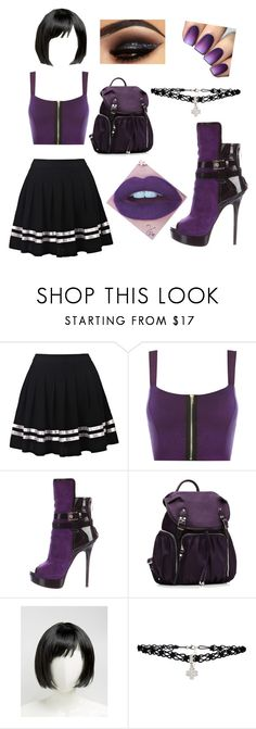 """Purple and Black 💜"" by pinkypowergirly ❤ liked on Polyvore featuring WearAll, Gianmarco Lorenzi, M Z Wallace, ASOS and Latelita"