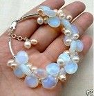 Opal moonstones and pearls