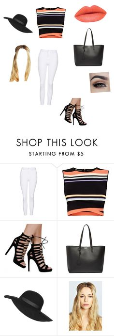 """""""Summer"""" by erinahara ❤ liked on Polyvore featuring Topshop, Ted Baker, Yves Saint Laurent, Boohoo, women's clothing, women, female, woman, misses and juniors"""