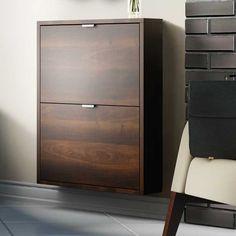 Szafka wąska na buty, dwie szuflady SLB25 SLIM - Sklep meblowy Onemarket - Meble do sypialni, pokojowe, młodzieżowe