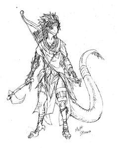 Female lizard folk - pathfinder