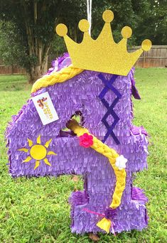 Number Four Pinata Fourth Birthday Princess Theme