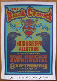 2007 The Black Crowes Silkscreen Concert Poster by Mark Arminski