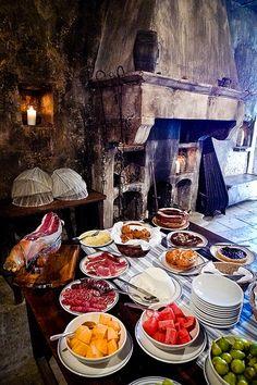 Breakfast buffet in Abruzzo