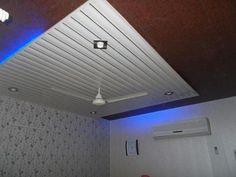 20 Lastest pvc ceiling designs for living room and bedroom - Home Design Way Down Ceiling Design, Simple False Ceiling Design, Pop Design, Wall Design, House Design, Pvc Ceiling Panels, Home Bar Designs, Wood Platform Bed, Living Room Designs