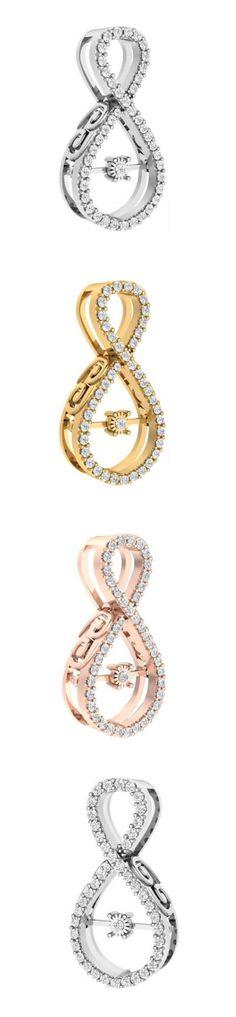 Diamond 164331: Genuine Diamond Dancing Diamond Pendant Necklace Si1/G 0.45Ct Prong Set 14K Gold BUY IT NOW ONLY: $265.67