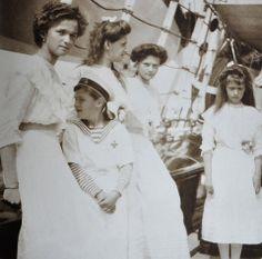 "Olga, Alexei, Maria, Tatiana and Anastasia, Standart: 1912. - ""For Anastasia"" coming soon: http://www.facebook.com/For.Anastasia.byRossALloyd"