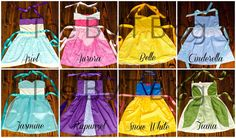Blessings, Miracles, &Thoughts in Between: Made by Mimi: Disney Princess dress-up aprons!