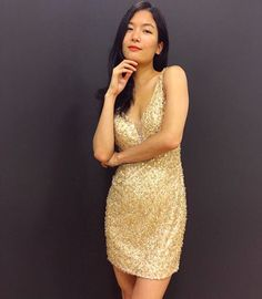 Morilee By Madeline Gardner Gold Sequin And Beaded Party Dress Style 33021 Adorable Short