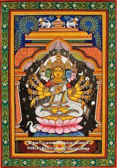 Gayatri Devi, patachitra painting from Odisha