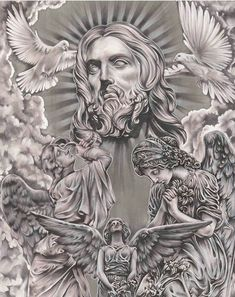 Lessons That Will Get You In The arms of The Man You love Chicano Tattoos, Chicano Art, Body Art Tattoos, Angel Tattoo Designs, Tattoo Sleeve Designs, Sleeve Tattoos, Tattoo Design Drawings, Tattoo Sketches, Jesus Tattoo Design