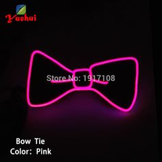 5016adc1be92 Hot Sale and Promotion Glowing El Bow Tie(Black) with 2.3mm el wire