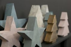 MrsBLOOM Collection AW2016 Metal Stars & Christmas Trees