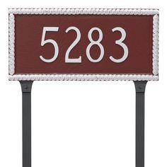 Harrison Address Plaque Lawn