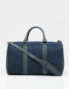 Blue / Marine A.P.C. Canvas Overnight Bag