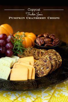 Pumpkin Cranberry Crisps - okay, for a really fun gift, how about a pretty basket with a bag of these delicious, gourmet crackers (you can make them for pennies!), a few wedges of yummy cheese and some beautiful red apples. Put me on your gift list!! Please!
