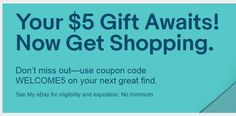 eBay Coupons : 5-10% Back in eBucks (YMMV) #coupons  eBay is offering 10% eBay Bucks with App or 5% onsite with any purchase. Offer ends 9/19/19 at 11:59 P.M. PT.  The post eBay Coupons : 5-10% Back in eBucks (YMMV) appeared first on SheffaSaving.com. 5 Gifts, Coupon Codes, My Ebay, Coupons, Coding, App, Coupon, Apps, Programming