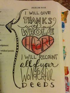 Beautiful Bible Journalling in the Psalms