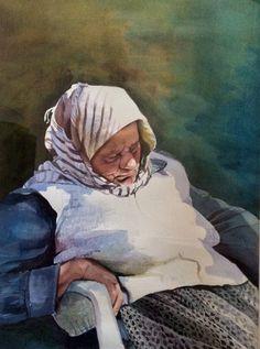 Aud Rye Akvarell