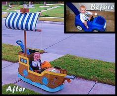 Pirate Ship Cardboard Cutout Awesome We Transformed His Favorite Car Into A Pirate Ship the Pirate - Cover Letter Examples For Resume Halloween 2016, Holidays Halloween, Halloween Kids, Halloween Crafts, Halloween Party, Halloween Costumes, Pirate Theme, Pirate Party, Mardi Gras Float