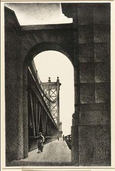 Louis Lozowick - Manhattan Bridge (1934)