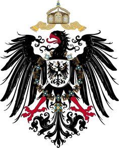 """Escudo """"Pequeño"""" del II Imperio Alemán usado con más frecuencia."""