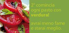 L'insalata va sempre mangiata per prima, alcalina i cibi e facilita la digestione!