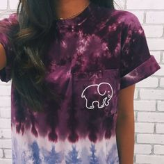 Pocketed Tie-Dye Ombre Classic Print Short Sleeve