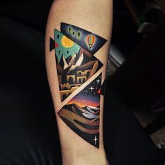 nice Geometric Tattoo - 40 Unique Triangle Tattoo Meaning and Designs for Dreamers