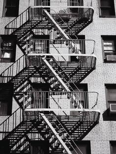 Fire Escape on Apartment Building-Henry Horenstein-Photographic Print Hero Crafts, Arts And Crafts Storage, Fire Escape, Fire Art, Living Environment, Monochrome Photography, Cool Posters, Frames On Wall, Stairs