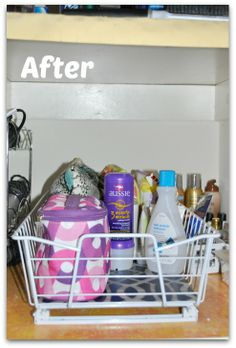 Organize everything under your bathroom sink with a ClosetMaid Cabinet Organizer.