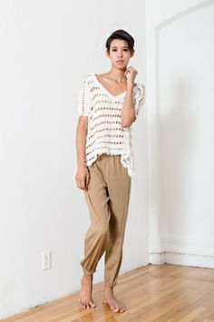 White Free People cutout top -- found on BIBANDTUCK.COM