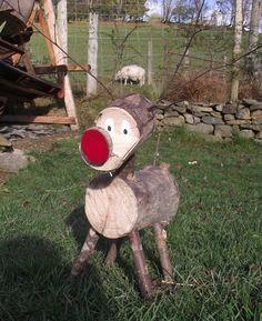 Reindeer. Christmas reindeer. Rudolph. Christmas decoration.. £9.00, via Etsy.