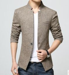 Top Fashion Korean Style Mens waist length stand collar Casual Blazers Coat Male Slim Fit Suit Jackets Overcoat Size M-4XL http://www.99wtf.net/category/men/mens-fasion/